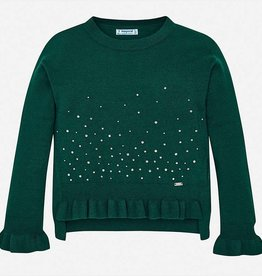 Mayoral Evergreen Ruffle Sweater - Mayoral