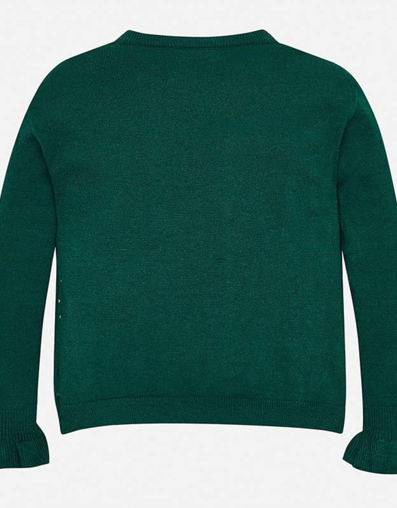 Mayoral Evergreen Ruffle Sweater - Mayoral