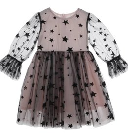 Doe a Deer Inc. Black & Pink Tulle Star Dress