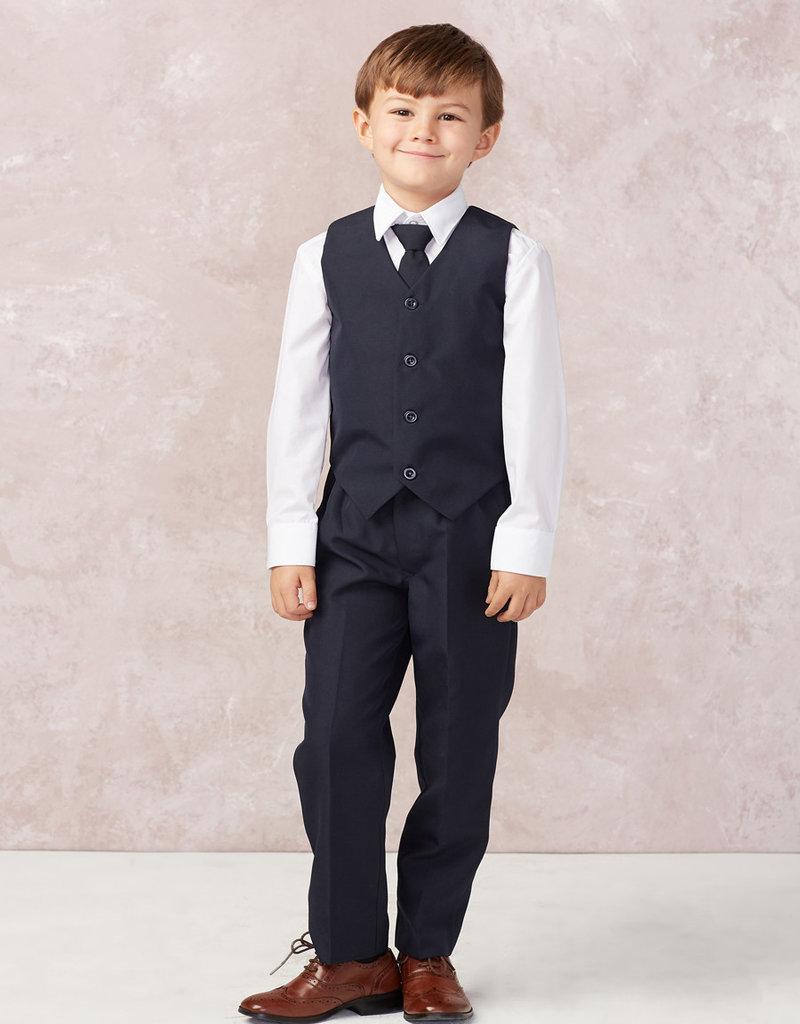 Tip Top Kids Boys Holy Communion Slim Fit Suit NAVY