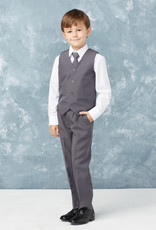Tip Top Kids Boys Holy Communion Slim Fit Suit CHARCOAL