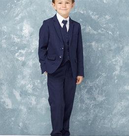 Tip Top Kids Navy Blue Slim Fit Communion Suit