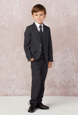 Tip Top Kids Dark Gray Slim Fit Communion Suit