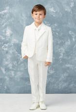 Tip Top Kids Pure White Slim Fit Communion Suit