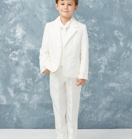 Tip Top Kids Pure White Slim Fit Communion Suit