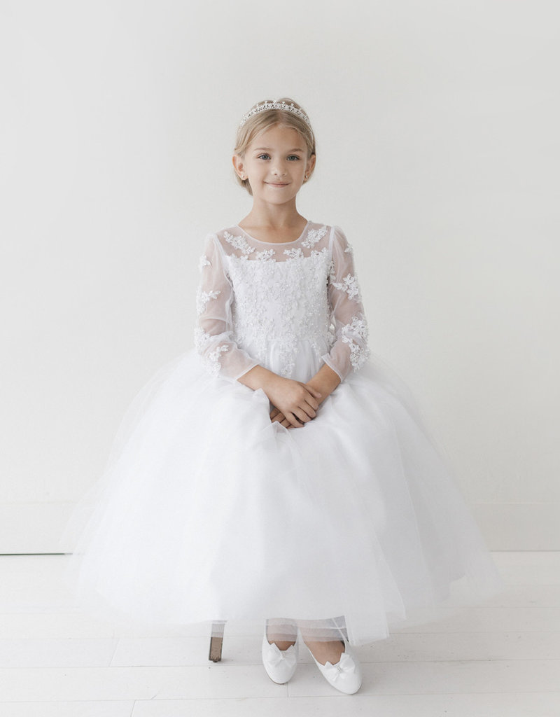 Tip Top Kids Princess Pearly Floral Dress