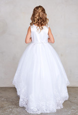 Tip Top Kids High Low Lace Embellished Communion Dress