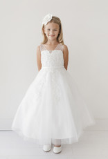 Tip Top Kids Floral Embellished Mesh First Holy Communion Dress