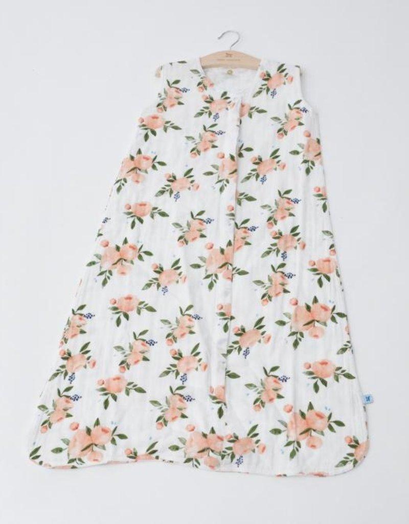 Little Unicorn Cotton Muslin Sleep Bag- Watercolor Roses 0-6m
