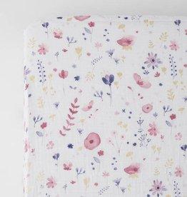 Little Unicorn Cotton Muslin Crib Sheet- Fairy Garden