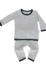 HB 2 Piece Striped Cozy Set Black