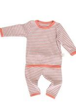 HB 2 Piece Striped Cozy Set Orange