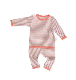 HB 2 Piece Striped Cozy Set Orange