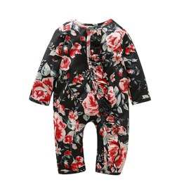 HB Black & Red Floral Romper