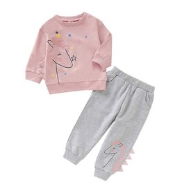 HB Pink & Grey Unicorn Lounge Set
