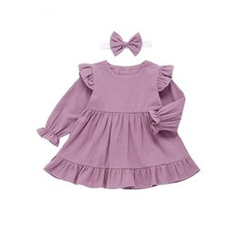 HB Lilac Ruffle Dress w/matching headband