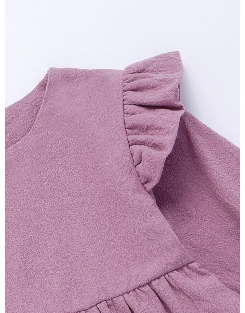 HB Lilac Ruffle Dress w/matching headband