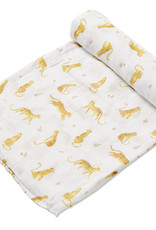 Angel Dear Cotton Muslin Swaddle Blanket - Leopards