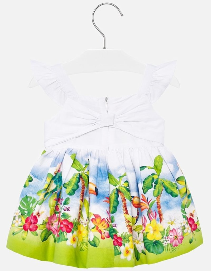 Mayoral Tropical Baby Sundress - Pistachio
