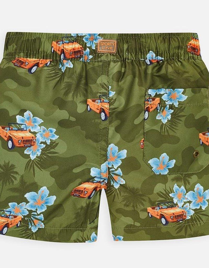 Mayoral Boys Tropical Car Swim Trunks