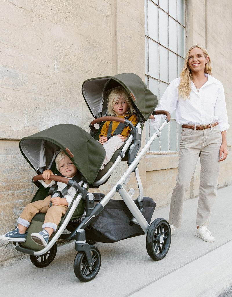 Uppababy VISTA V2 Stroller- HAZEL (olive/silver/saddle leather)