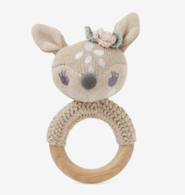 Elegant Baby FAWN RING RATTLE