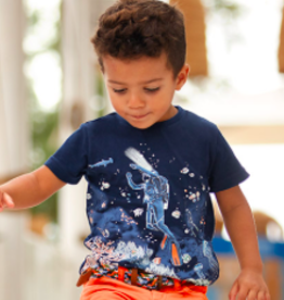 Mayoral Graphic Scuba Diver Tee & Shorts Set