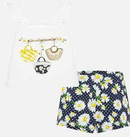 Mayoral Daisy Baby Shorts Set