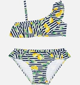 Mayoral Lemon Stripe Bikini