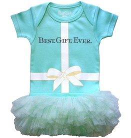 Sara Kety Best Gift Ever Tutu Onesie - Teal