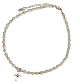 Pearl Necklace with Cross for Baby