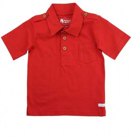 RuffleButts/RuggedButts Red 1-Pocket Polo