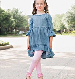 RuffleButts/RuggedButts Rufflebutts Denim Ruffle Tunic