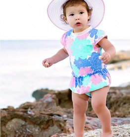 RuffleButts/RuggedButts Pastel Petals One Piece Swim