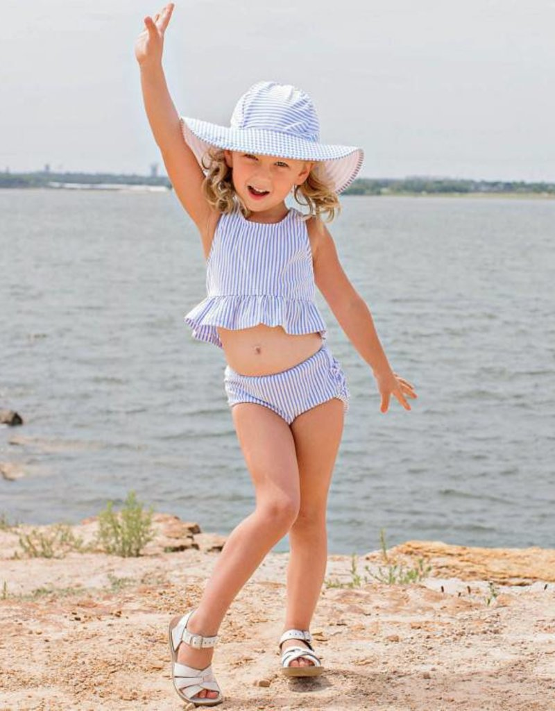 RuffleButts/RuggedButts Periwinkle Blue Swim Hat