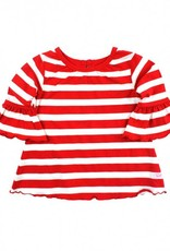 RuffleButts/RuggedButts Rufflebutts Red Stripe Belle Top
