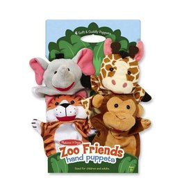 Melissa and Doug Zoo Friends Hand Puppets