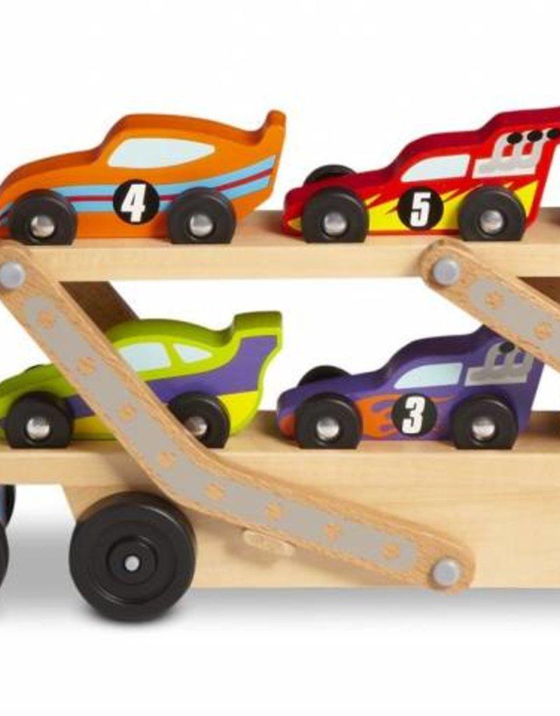 Melissa and Doug Mega Race-Car Carrier