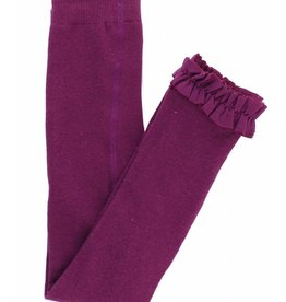 RuffleButts/RuggedButts Rufflebutts Plum Footless Tights