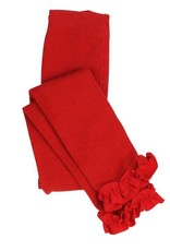 RuffleButts Red Footless Ruffle Tights