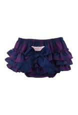 RuffleButts Rufflebutts Plum & Navy Buffalo Plaid RuffleButt