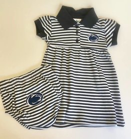 Creative Knitwear Penn State Striped Dress w/ Bloomer