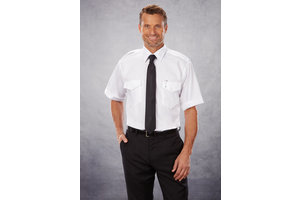 Phillips Van-Heusen Corp Shirt: Aviator Stretch SS Wht