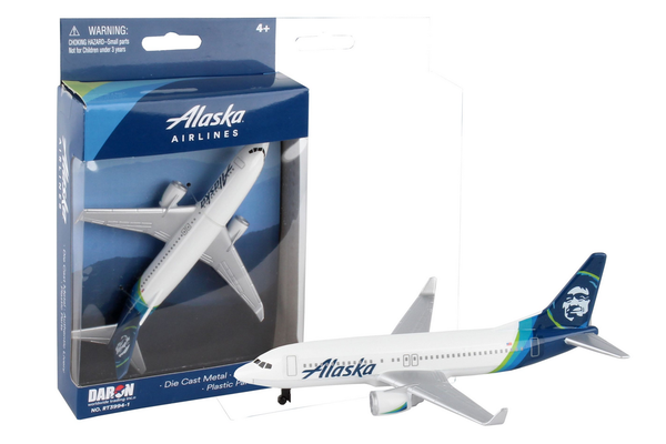 ALASKA AIRLINES SINGLE PLANE NEW LIVERY