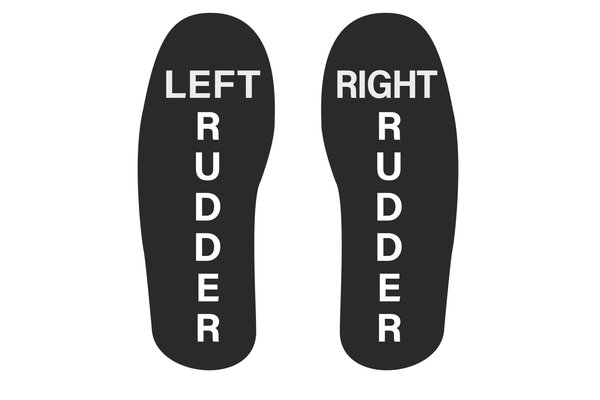 Socks: L & R Rudder