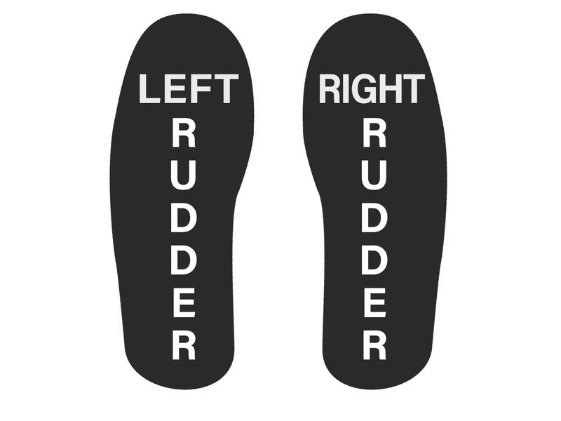 Socks: L & R Rudder