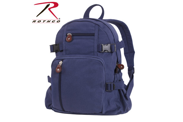 Bag: Blue Canvas Backpack