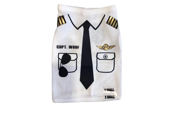 Dare to Fly Apparel Captain Woof Dog Shirt