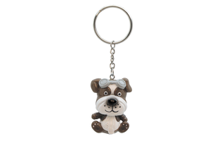 Aviator bobble head Dog keychain