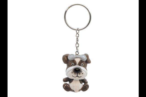 Aviator bobble head Dog keychain